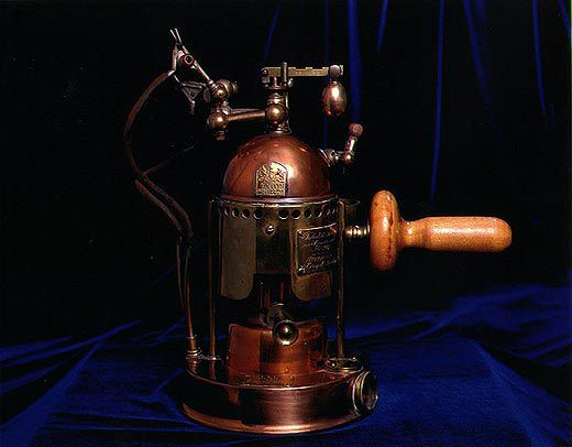 Brass carbolic acid atomizer for antiseptic surgery, mid-to-late 19th century