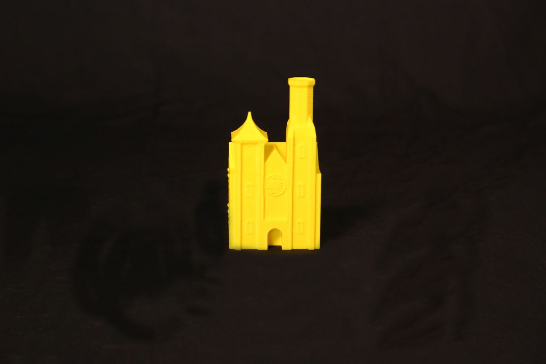 3D printed Smithsonian Castle