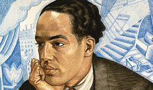 "Langston Hughes is one of the many poets featured in the National Portrait Gallery's ""Poetic Likeness"" exhibition."