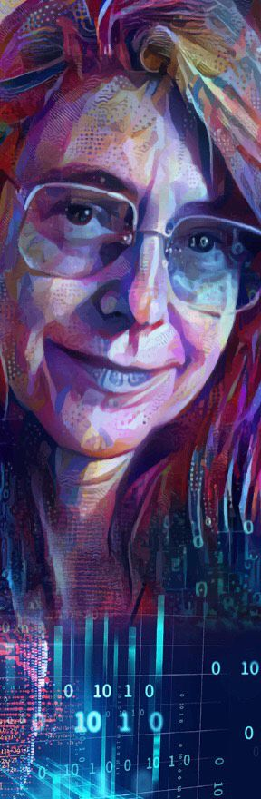 Margaret Hamilton Portrait from the Featured Futurists series, 2021, Deep Dream. Courtesy of Nettrice Gaskins.