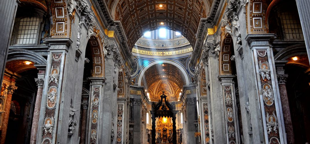 The vast interior of St. Peter's Basilica