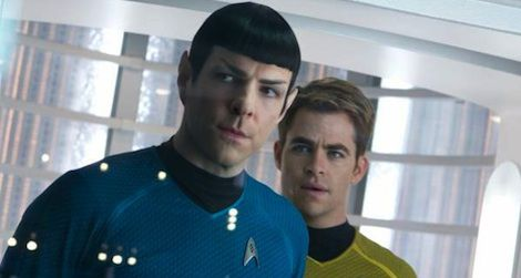 Zachary Quinto and Chris Pine in the 2013 'Star Trek Into Darkness.'