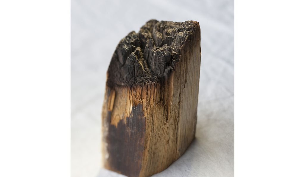 This timber, which survived the burning of the White House 200 years ago, was donated to the Smithsonian after it was discovered during a 1950 renovation.
