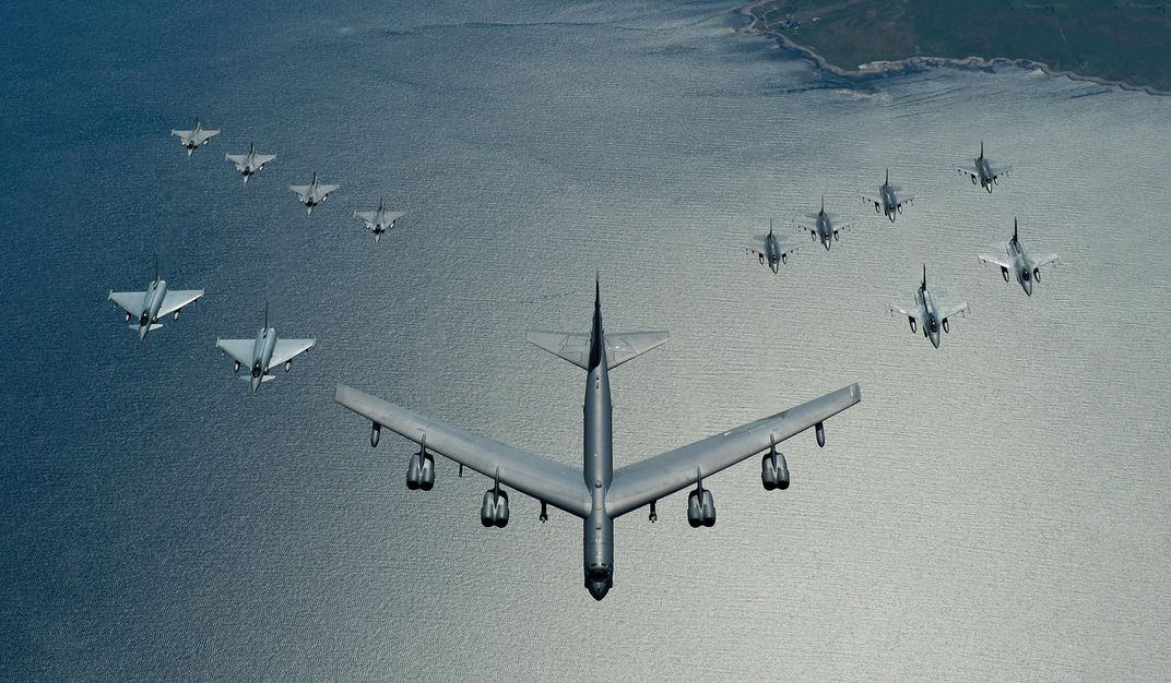 fighter planes over Baltic Sea
