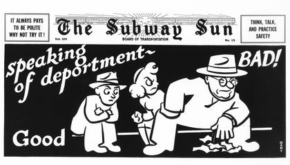 New Exhibit Shows Manspreading Has Been Taking up Subway Space for Decades