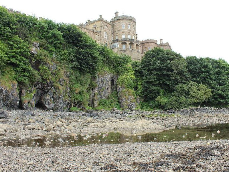 Hidden Medieval Door Leading to Smugglers' Caves Discovered Underneath Scottish Castle