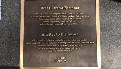 Plaque Memorializes First Icelandic Glacier Lost to Climate Change