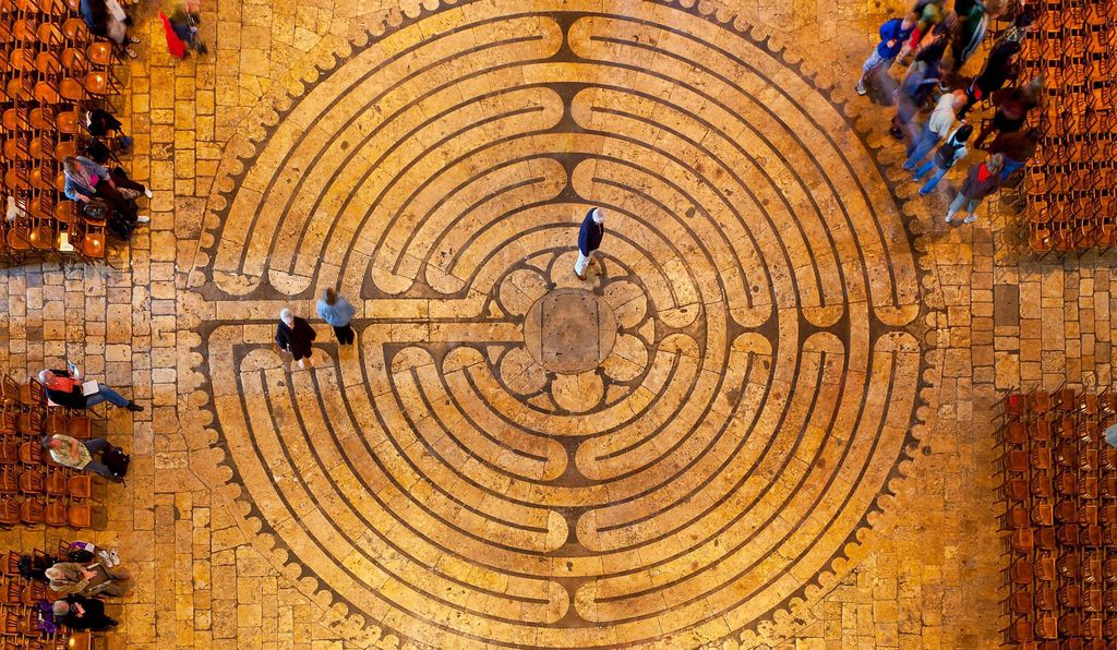 Labyrinth of the Chartres Cathedral in France.