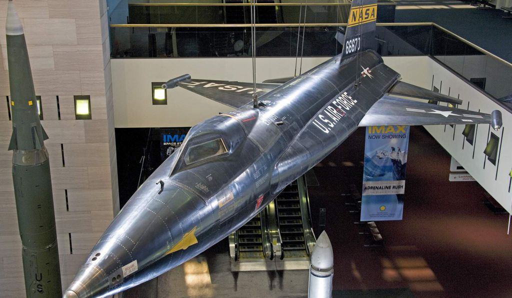 Neil Armstrong piloted this X-15 #1, to a speed of Mach 5.74, which was portrayed in the film, <em>First Man</em> and on view at the Smithsonian's National Air and Space Museum.