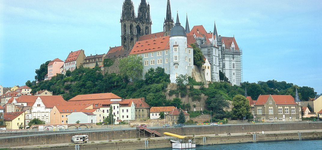 View of Meissen from the river
