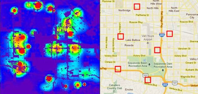 Computers predict a city's crime hot spots.
