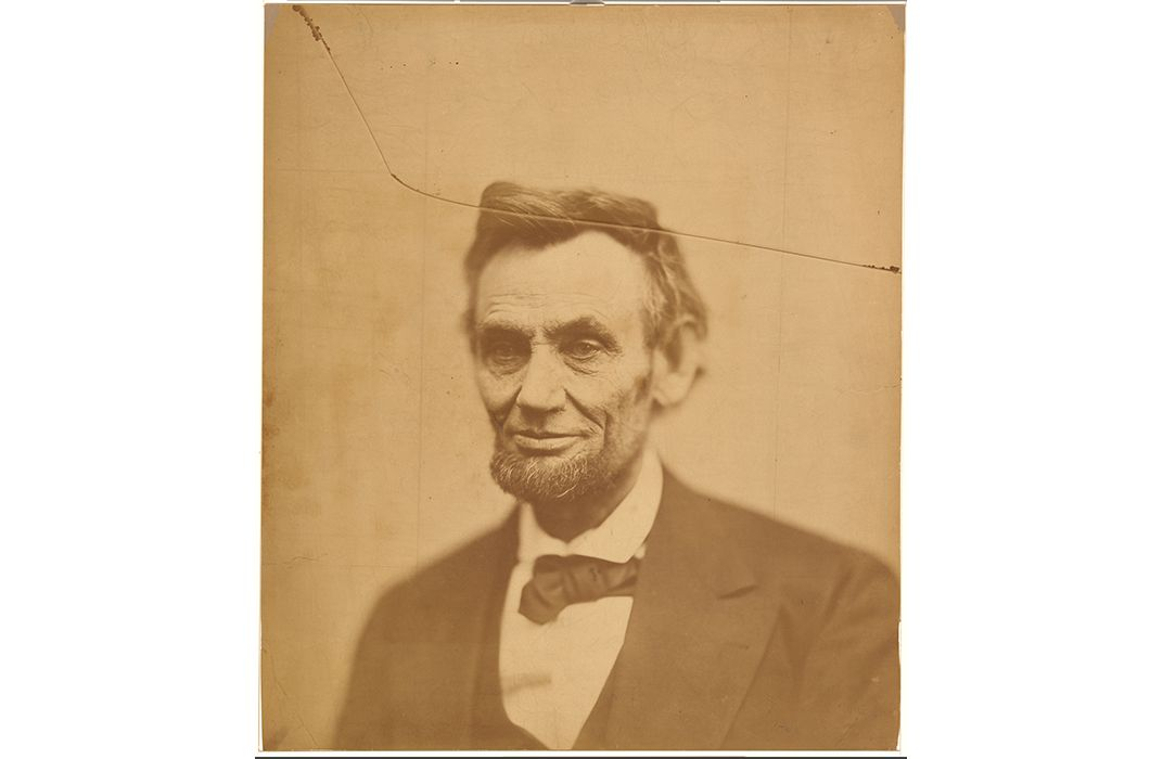 Abraham Lincoln, Cracked-Plate, 1865