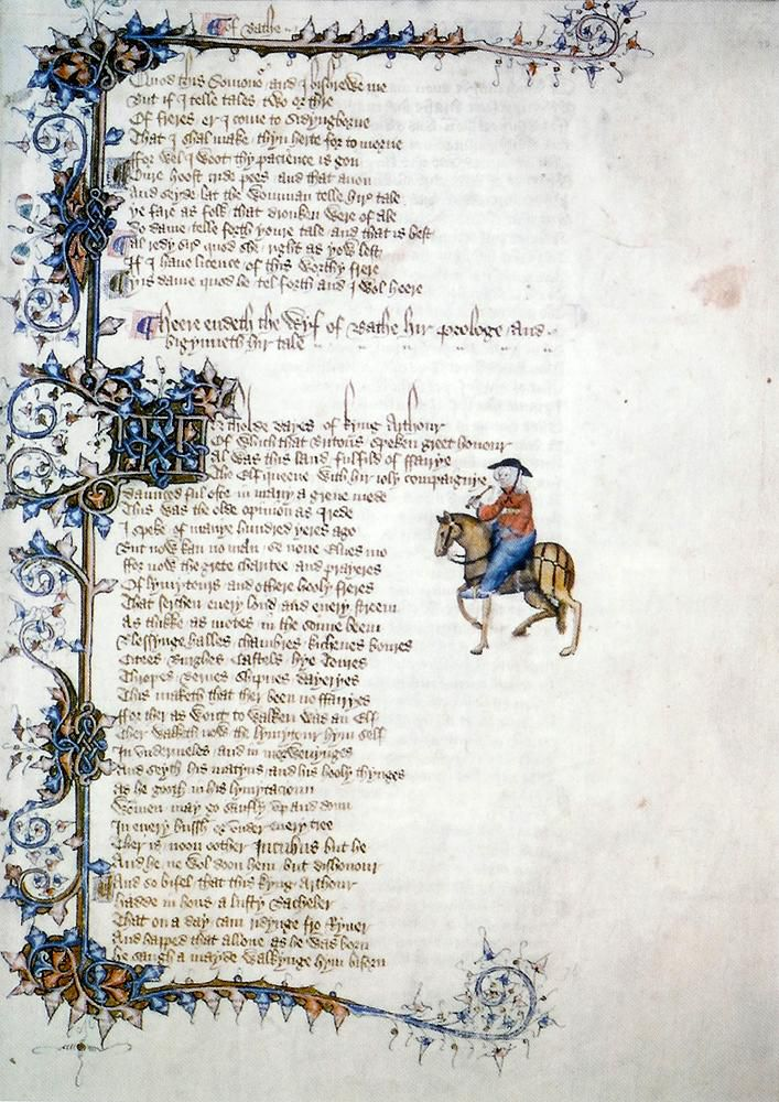 Page from Canterbury Tales manuscript