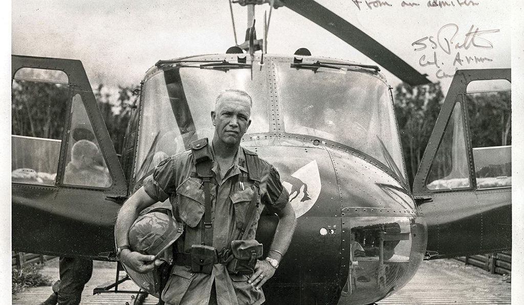 "On a tape from Vietnam, then Col. George Patton IV admitted he would ""miss my chopper with all the bullet holes in it."