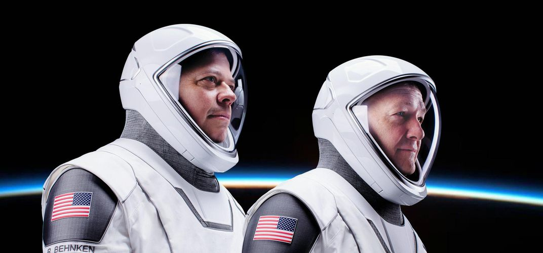 Caption: SpaceX Launches Its First Astronauts