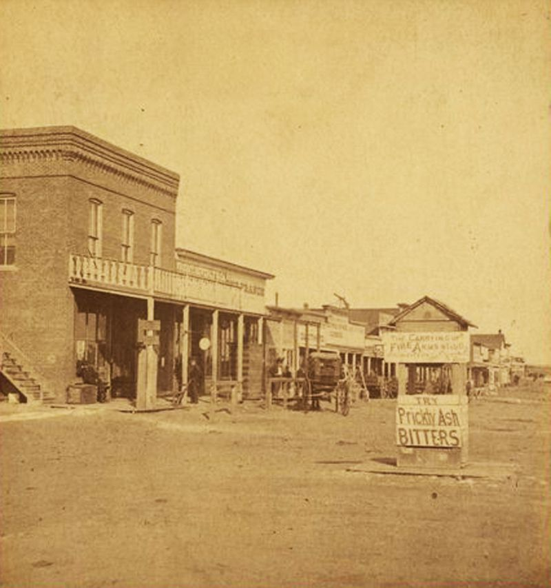 Street scene, Dodge City, Kansas