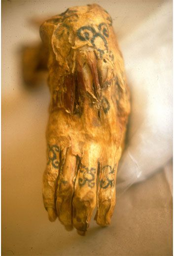 9644caaa0 The tattooed right hand of a Chiribaya mummy is displayed at El Algarrobal  Museum, near the port of Ilo in southern Peru. The Chiribaya were farmers  who ...