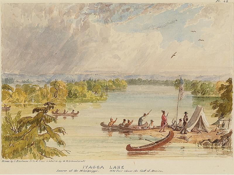 An 1832 expedition led by Henry Schoolcraft identified the Mississippi's source as Lake Itasca in  Minnesota.