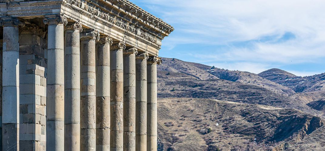 Garni Temple, detail, Armenia