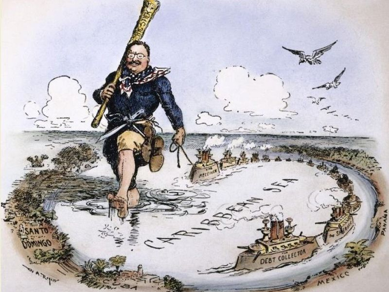 Theodore Roosevelt and his Big Stick in the Caribbean (1904)