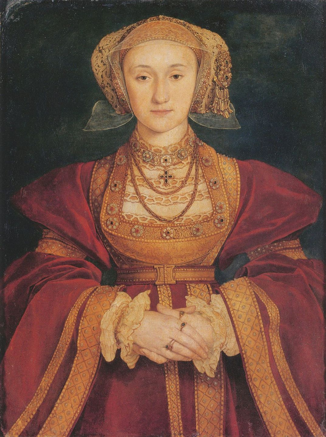 Hans Holbein's 1539 portrait of Anne of Cleves