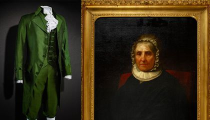 A Portrait of Eliza Hamilton and a Costume Worn by Lin-Manuel Miranda for 'Hamilton' Arrives at the Smithsonian