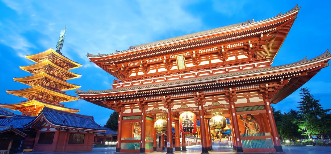 Senso-ji Temple, or Asakusa Kannon, an important Buddhist temple in Tokyo