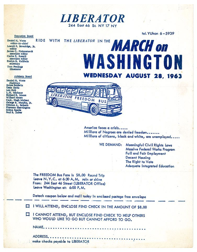 many people boarded buses like the liberator to travel to the march round trip fare from new york city to washington dc cost 8 nmaahc