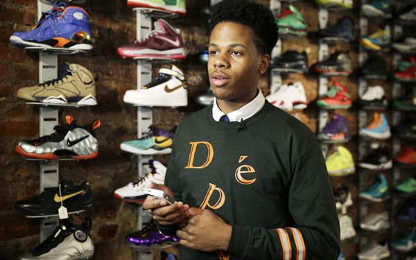 Teen creates business out of used shoes