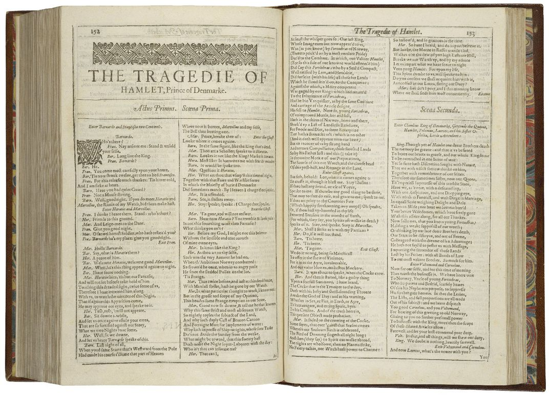 Hamlet Appears in First Folio