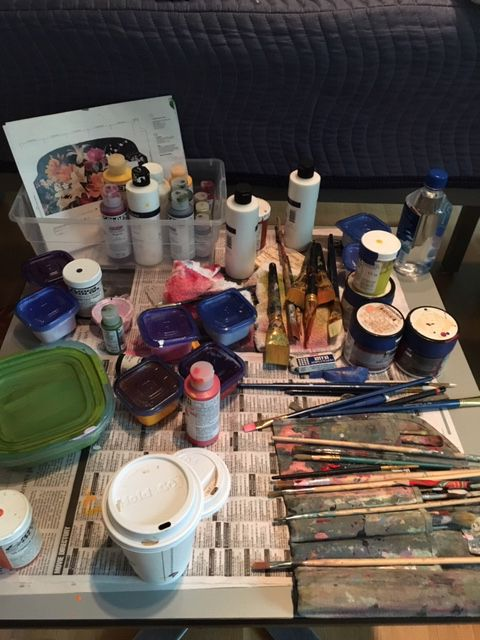 The artist's tools.