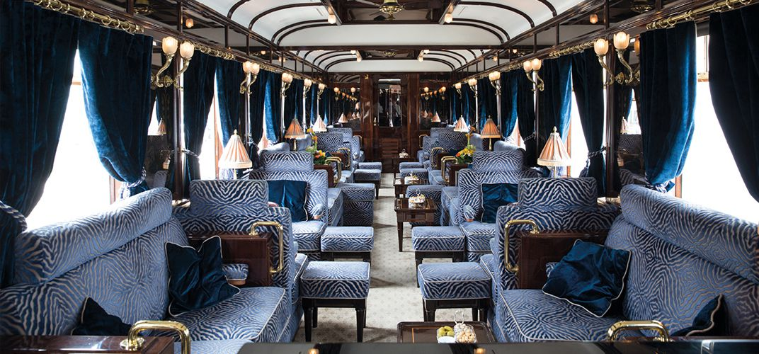Lounge car on the Venice Simplon-Orient-Express