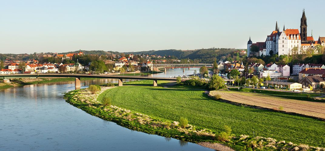 Meissen, located along the Elbe River