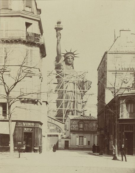 The Statue of Liberty being built outside of Bartholdi's Paris studio. Photo Albert Fernique, Courtey of Sotheby's, Inc. copyright 2010