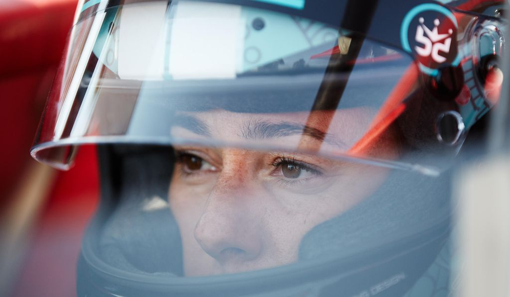 Professional racer Shea Holbrook served as pace driver