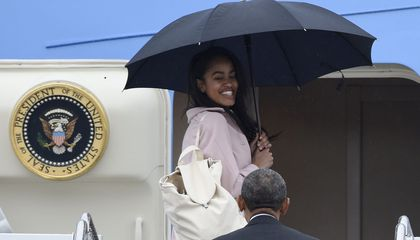 Image: Malia Obama is going to Harvard – but not right away