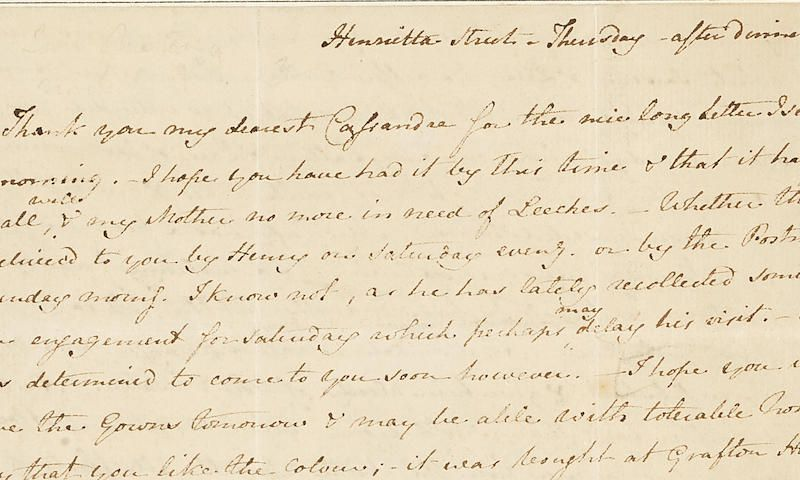 This Jane Austen Letter Highlights the Horrors of 19th-Century ...