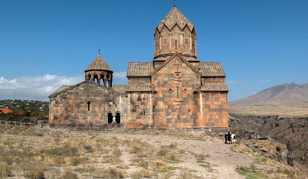 The restored Monastery of St. John, also known as Hovhannavank.