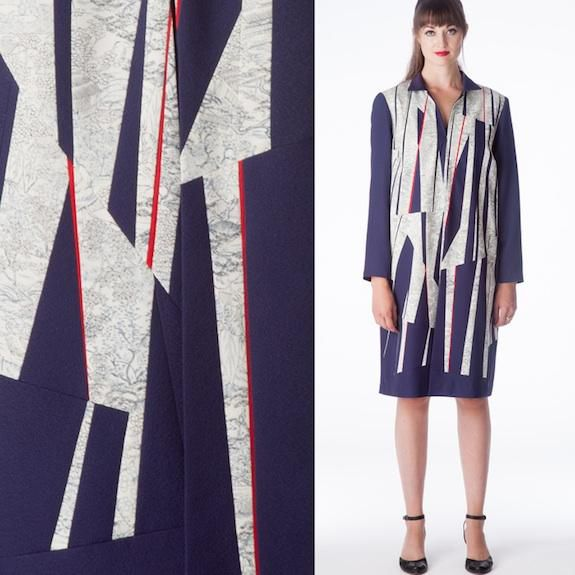 Crisp colors and vintage silk provide a timeless air to Ann Williamson's fashion.