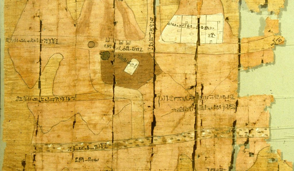 The Turin Papyrus Map.