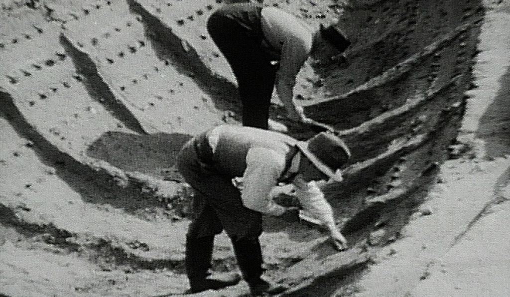 Basil Brown (front) led excavations at Sutton Hoo.