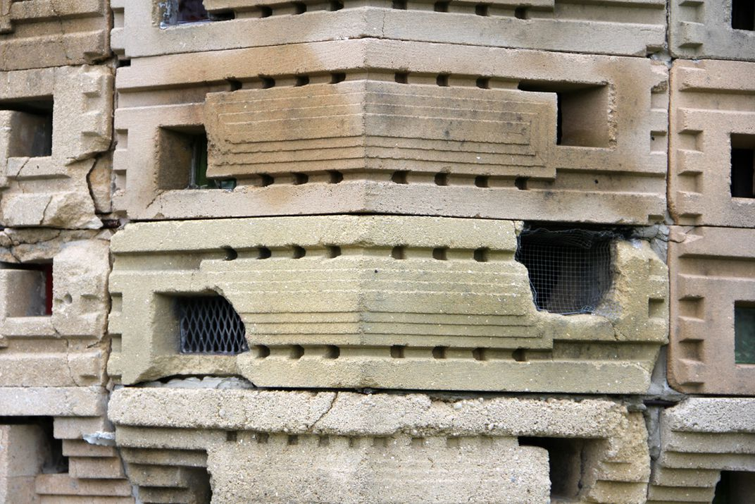 Closeup view of the existing concrete block (image courtesy FSC)