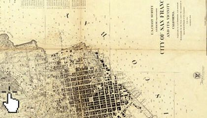 Rumsey map of Denver