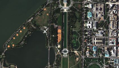 How the Artist Behind the Giant Landscape Portrait on the Mall Used a Super-Precise GPS Satellite System as a Paintbrush