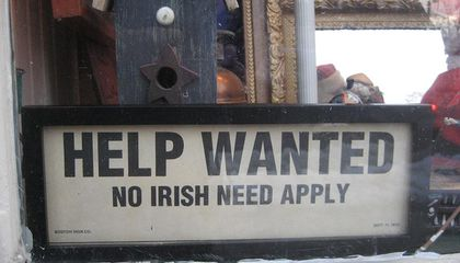 "Teen Schools Professor on ""No Irish Need Apply"" Signs"