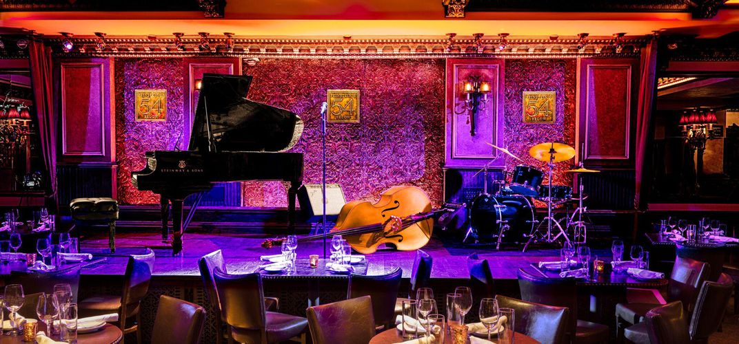 The stage at Feinstein's/54 Below