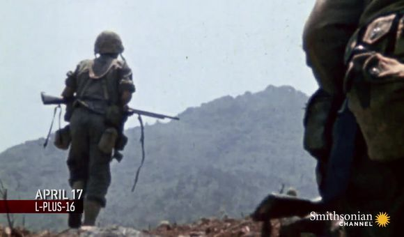 Preview thumbnail for video'U.S. Marines first test against Japanese defenses on Okinawa.