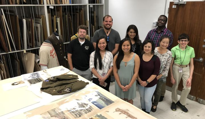 Through co-creation efforts with K-12 educators and Asian American community partners, the National Veterans Network, elementary and middle school educators, Asian Pacific American Center interns and National Museum of American History staff, learn more about the stories behind objects. (Smithsonian Asian Pacific American Center)