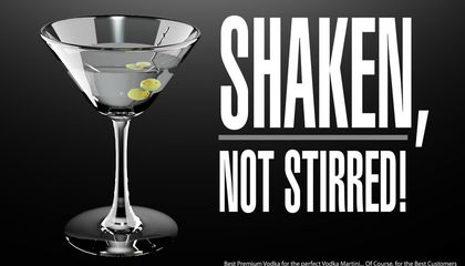 Vodka martini ad