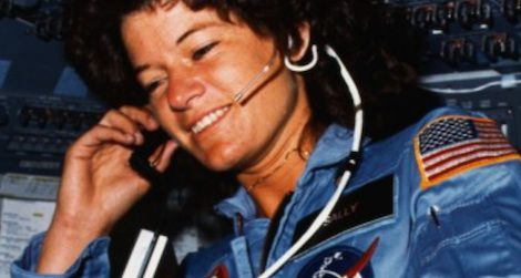 Ride aboard Space Shuttle Challenger in 1983